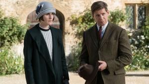Lady Mary och ex-chauffören Tom Branson.
