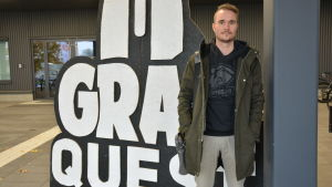 E-sportambassadören John Kronberg i samband med Grail Quest i Åbo.