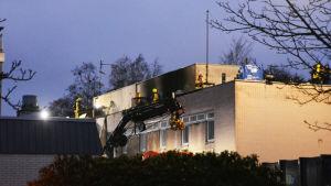 Brand på Hälsovårdscentralen i Hangö.