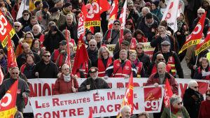 Protester i Montpellier 10.12.2019