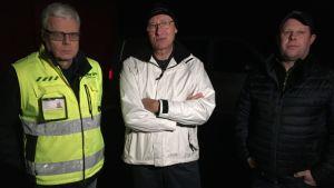 Tom Eliasson från Destia, Solbergbon Kaj Karlstedt och entreprenören Thomas Lindqvist.