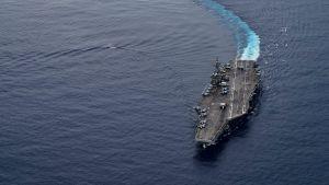 Det amerikanska hangarfartyget USS Ronald Reagan