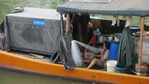 Många fiskebåtar är så små att de måste hålla sig nära kusten. De här fiskarna lider i hög grad av överfisket i kustvattnen.
