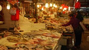 Utbudet av fisk är nuförtiden imponerande på marknaderna i Kina. Vissa fiskarter kostar skjortan.
