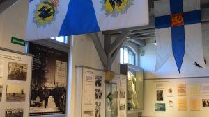 Ett av utställningsrummen i museet i Hohenlockstedt