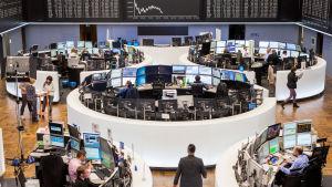 Börsen i Frankfurt, Tyskland.