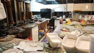 En kebabgrill vandaliserades av högerextremister i Leipzig.