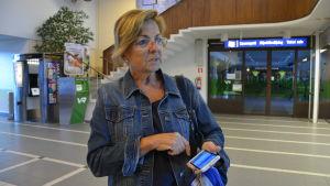 Roáo de la Vega visste inte om strejken när hon kom till tågstationen.