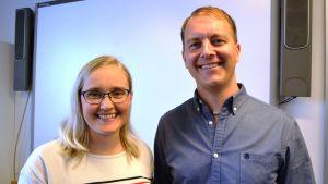 Camilla Willberg och Simon Hansell.