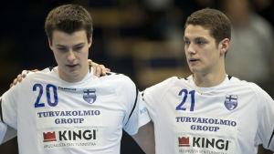 Robin och Max Granlund, Finland-Slovakien, januari 2018.