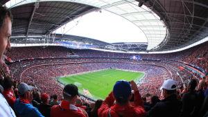 Wembley Stadium i London.