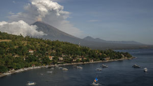 Vulkanutbrott i Bali.