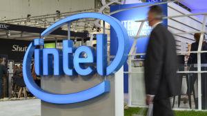 Processortillverkaren Intels logo.