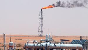 En bild på Khurais oljefält från 2008.