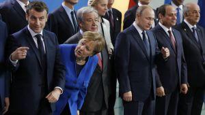 Världsledare samlades i Berlin 19.1.2020 för att diskutera läget i Libyen