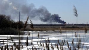 Explosion nära Debaltseve den 17 februari.