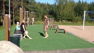 Idrottsparken i Kodderviken är välbesökt