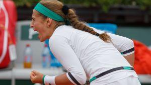 Jelena Ostapenko i semifinal i Franska öppna.