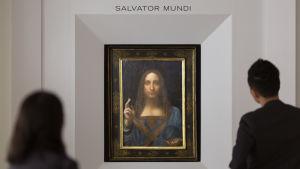 """Leonardo da Vincis """"Salvator Mundi"""" såldes för rekordsumman 380 miljoner euro vid Christies i New York"""