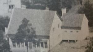 Gammal bild på hur bybutiken såg ut tidigare i Valkom