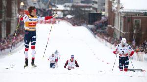 Johannes Kläbo dominerade sprinten i Drammen.