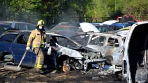 Bilbrand i Sunnanvik.