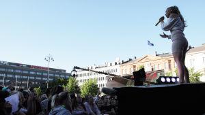 Evelina på YleXPop i Vasa 2018.