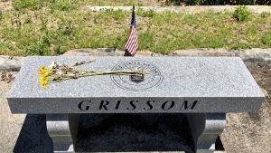 Minnessten över en av astronauterna som dog i Apollo I.