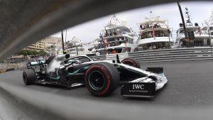 Valtteri Bottas i farten i Monaco.