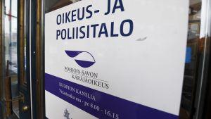Dörrskylt för Norra Savolax tingsrätt.