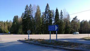 Riksväg 25 genom Ingå och Svartå.