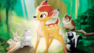 Hjortkalven Bambi i Walt Disbneys film från 1942