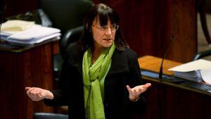 Pirkko Ruohonen-Lerner (SF) under riksdagens debatt om skolsvenskan den 5 mars 2015.