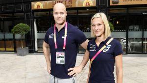 David Söderberg och Camilla Richardsson, inför VM 2017.