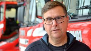 Räddningschef Peter Johansson på Räddningsverket i Östra Nyland.