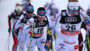 Aino-Kaisa Saarinen och Kerttu Niskanen på Tour de Ski.