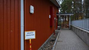 Lampola vid civiltjänstcentralen i Lappträsk.