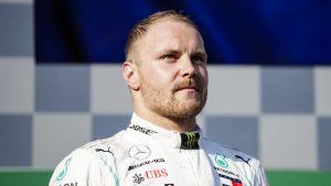 Valtteri Bottas på prispallen efter Australiens GP.