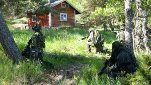 militär övning på holme