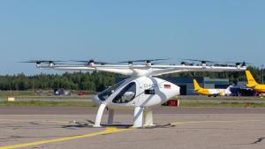 Volocopter Helsinki-Vantaan lentokentällä