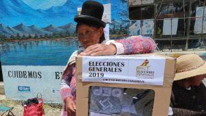 Presidentval i Bolivia. Vallokal i Patamanta 20.10. 2019
