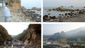 Nordkoreas nyhetsbyrå KCNA gav ut dessa bilder efter Kim Jong-Uns besök i området