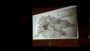 en gammal bild på hur ghettot som Piotr bodde på såg ut på en karta