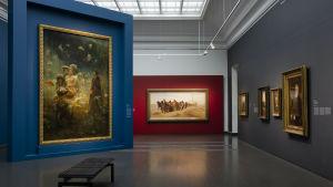 Bild på Ilja Repin-utställningen på Ateneum.