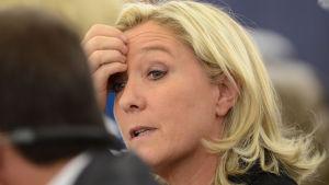 Nationella frontens ledare Marine Le Pen.