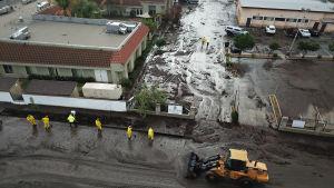 Räddningsarbetare nära Los Angeles