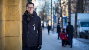 Suomen Hypoteekkiyhdistyksen (Hypo) pääekonomisti Juhana Brotherus, Ruttopuisto, 22.2.2018.