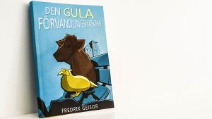 Pärmen på Fredrik Geisors bok Den gula förvandlingsmaskinen