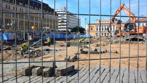 Arkeologiska utgrävningar på Salutorget i Åbo