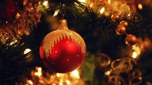 Julgransboll och julgran.